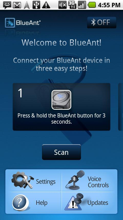BlueAnt S4 app for Android