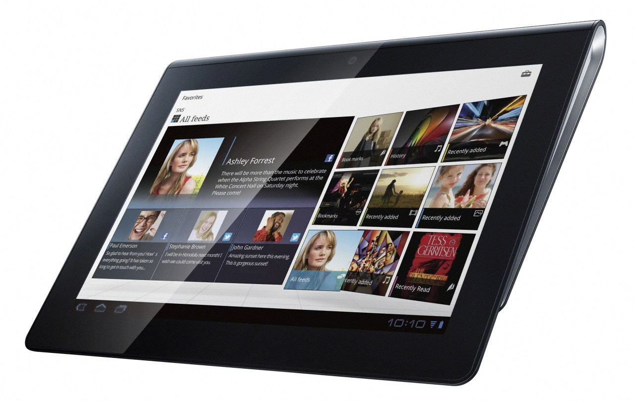 Photo of the Sony S1 Android tablet.