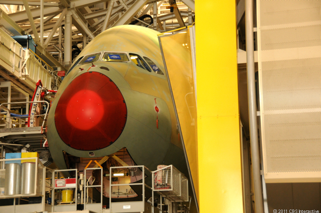A380 nose section