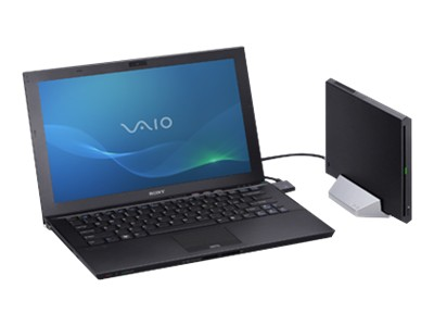 "Sony VAIO Z Series VPC-Z22AGX/B - Core i7 2640M / 2.8 GHz - Windows 7 Professional 64-bit - 8 GB RAM - 128 GB SSD + 128 GB SSD - DVD-Writer - 13.1"" wide 1920 x 1080 / Full HD - Intel HD Graphics 3000 - 3G - black carbon fiber - keyboard: QWERTY - with Sony Power Media Dock - Verizon, AT&T, Sprint"