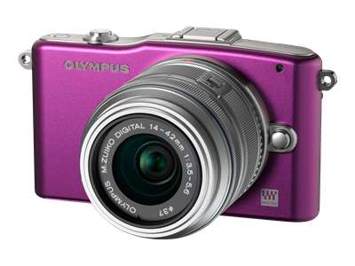 Olympus PEN E-PM1 (with 14-42mm lens, Purple)