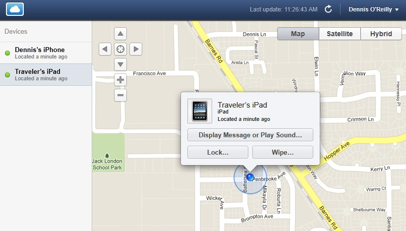 Apple Find My iPhone app
