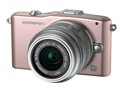 Olympus PEN E-PM1 (with 14-42mm lens, Pink)