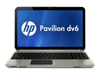 "HP Pavilion dv6-6169us - Core i5 2430M / 2.4 GHz - Windows 7 Home Premium 64-bit - 6 GB RAM - 750 GB HDD - DVD-Writer / Blu-ray - 15.6"" HD BrightView wide 1366 x 768 / HD - Intel HD Graphics 3000"