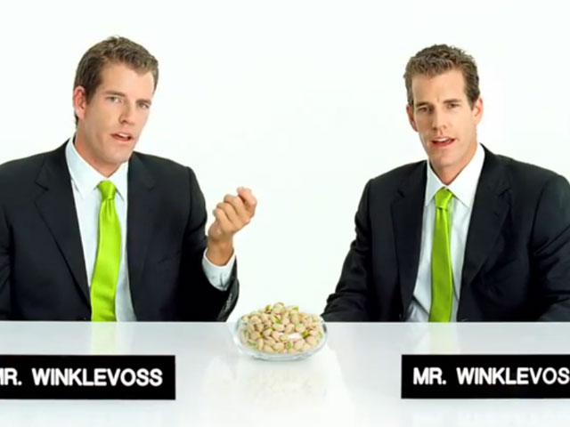 A jab at Mark Zuckerberg? Winklevoss twins do a pistachio commercial