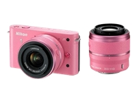 Nikon 1 J1 (with 10-30mm and 30-110mm lenses, Pink)