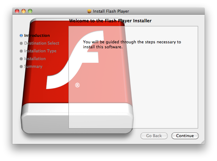 An earlier version of the Flashback Trojan's installer.