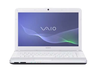 "Sony VAIO E Series VPC-EG33FX/W - Core i3 2350M / 2.3 GHz - Windows 7 Home Premium 64-bit - 4 GB RAM - 640 GB HDD - DVD-Writer - 14"" wide 1366 x 768 / HD - Intel HD Graphics 3000 - glacier white - keyboard: QWERTY"