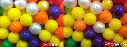 iPhone 4S camera test balls