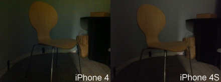 iPhone 4S camera test chair