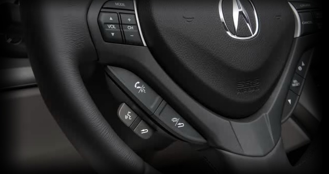 Bluetooth hands-free calling in an Acura.