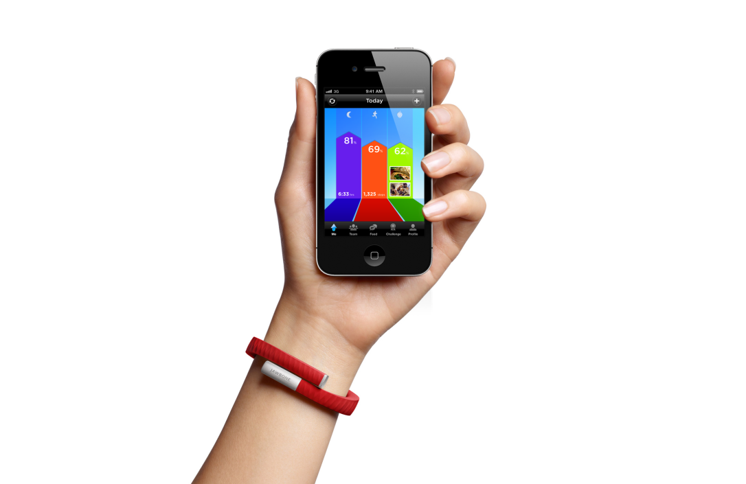 Jawbone Up wristband with the Up iPhone app