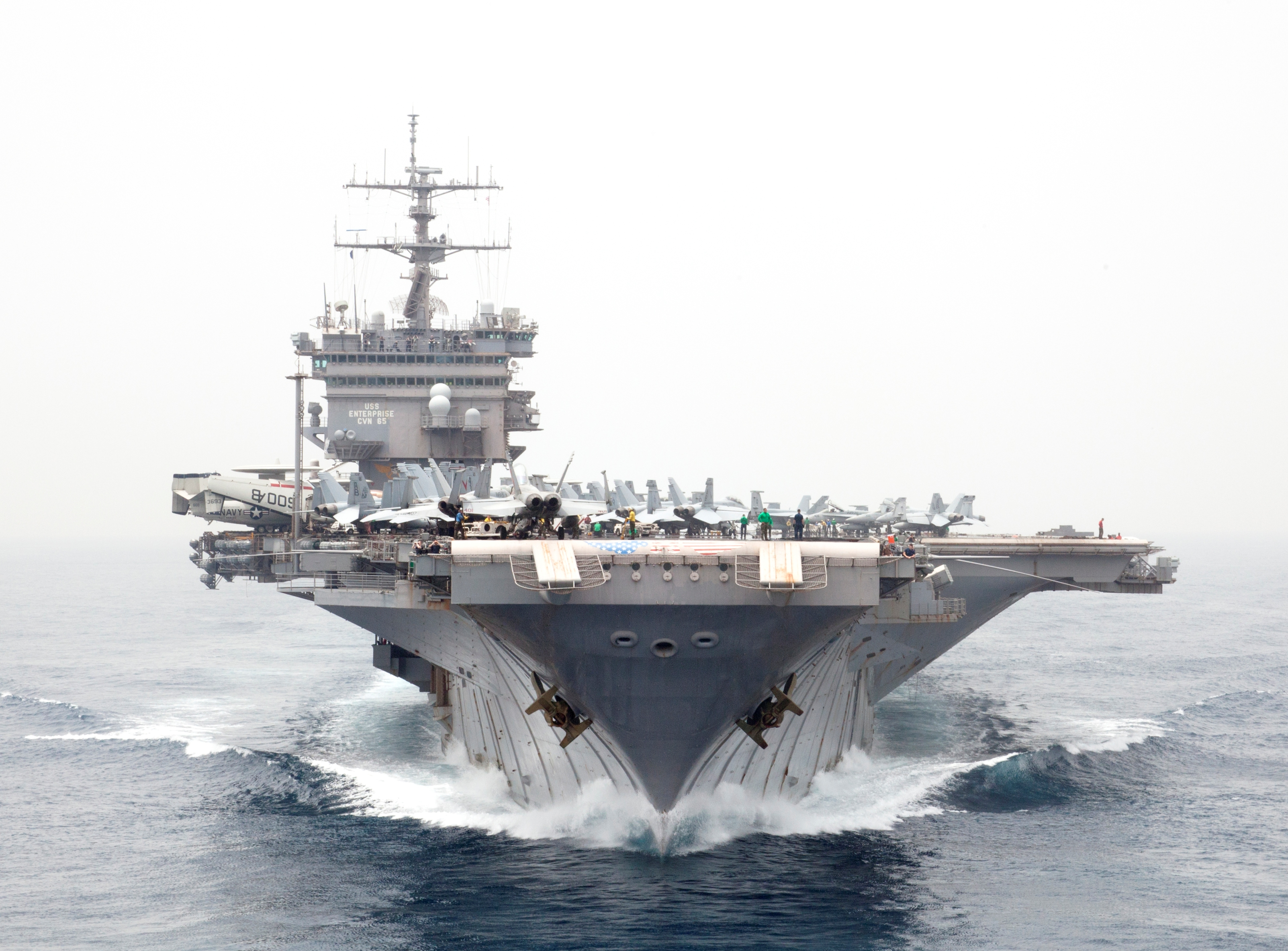 USS Enterprise: Nuclear power meets aircraft carrier ...