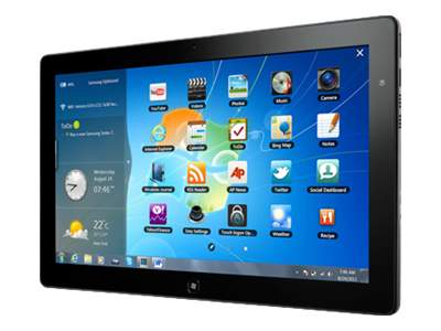 "Samsung Series 7 Slate PC - Tablet - Windows 7 Home Premium 64-bit - 128 GB - 11.6"" TFT ( 1366 x 768 ) - front camera - microSD slot - Wi-Fi, Bluetooth"