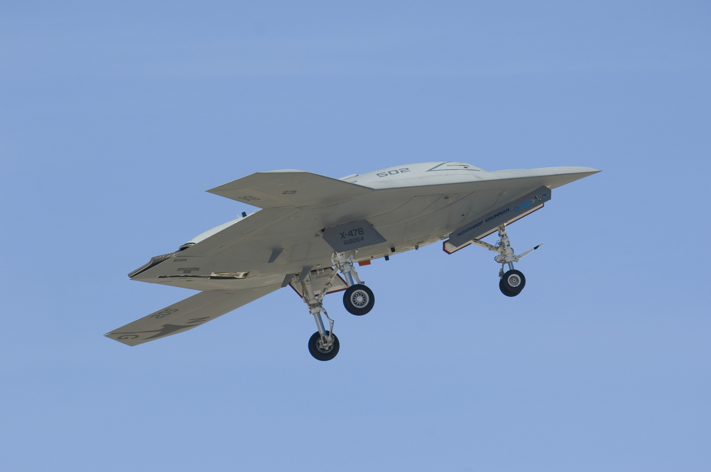 X-47B AV-2 in the air