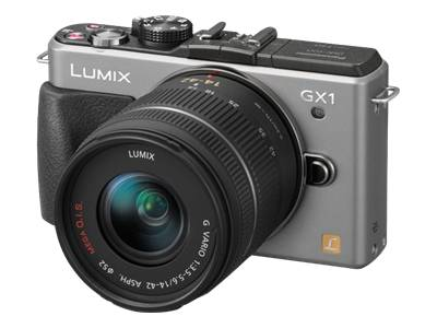 Panasonic Lumix DMC-GX1 (with 14-42mm lens, Silver)