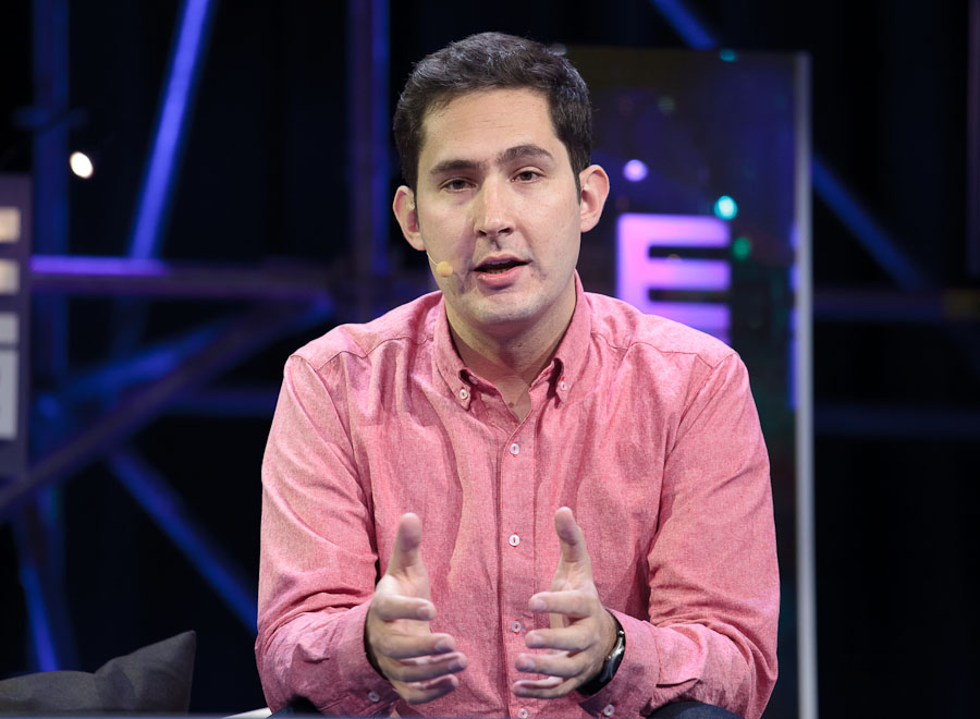 Instagram CEO Kevin Systrom speaking at LeWeb