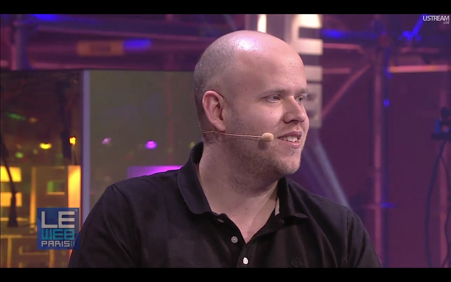 Spotify co-founder and CEO Daniel Ek speaks at LeWeb.