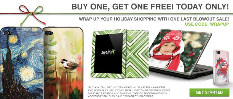 Act fast! Today only, skins are BOGO at Skinit.