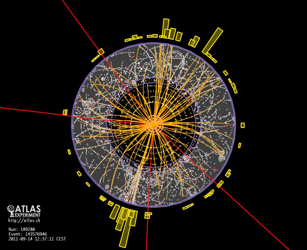 LHC observes muons in action