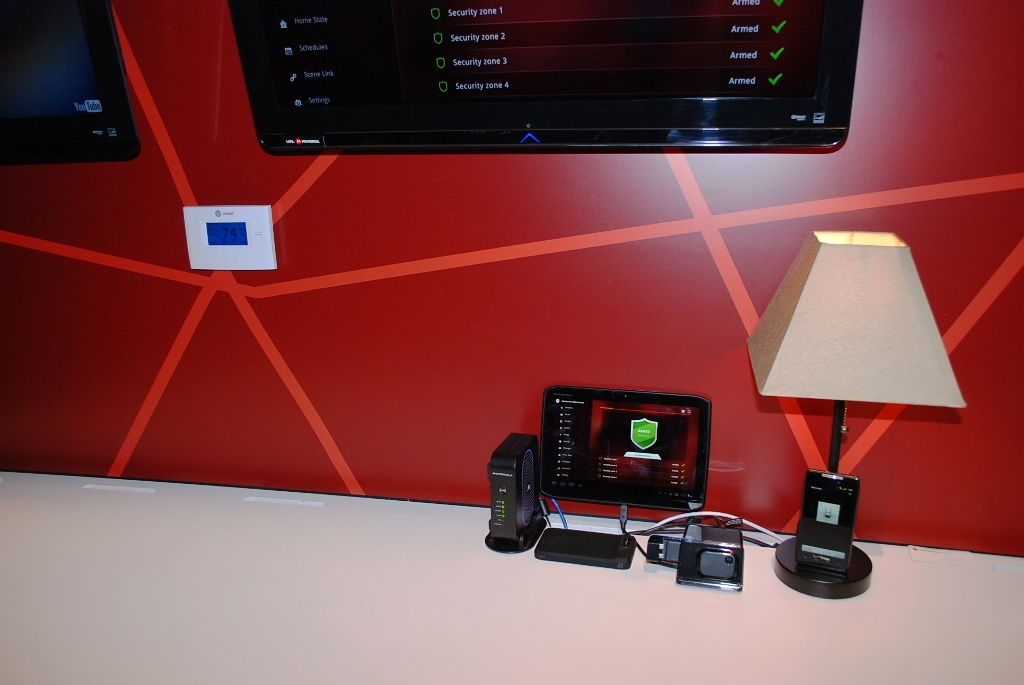Motorola demoes its Home Gateway at CES 2012.