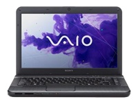 "Sony VAIO E Series VPC-EG3AGX/B - Core i5 2450M / 2.5 GHz - Windows 7 Professional 64-bit - 4 GB RAM - 640 GB HDD - DVD-Writer - 14"" wide 1366 x 768 / HD - Intel HD Graphics 3000 - charcoal black - keyboard: QWERTY"