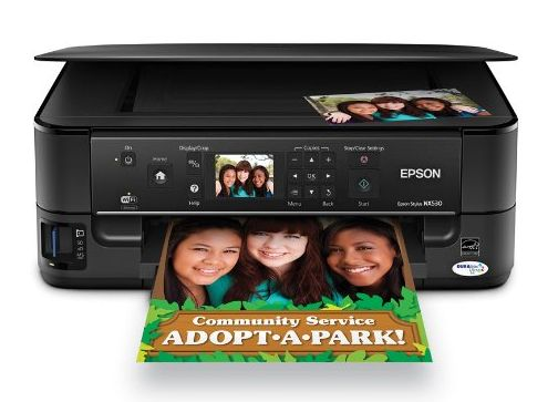 The Epson Stylus NX530 prints, scans, and copies--and even offers double-sided printing.