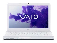 "Sony VAIO E Series VPC-EG37FM/W - Core i5 2450M / 2.5 GHz - Windows 7 Home Premium 64-bit - 6 GB RAM - 640 GB HDD - DVD-Writer / Blu-ray - 14"" wide 1366 x 768 / HD - Intel HD Graphics 3000 - WiMAX - glacier white - keyboard: QWERTY"