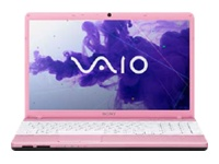 "Sony VAIO E Series VPC-EH37FX/P - Core i5 2450M / 2.5 GHz - Windows 7 Home Premium 64-bit - 6 GB RAM - 640 GB HDD - DVD-Writer - 15.5"" wide 1366 x 768 / HD - Intel HD Graphics 3000 - blush pink - keyboard: QWERTY"