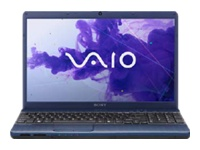 "Sony VAIO E Series VPC-EH37FX/L - Core i5 2450M / 2.5 GHz - Windows 7 Home Premium 64-bit - 6 GB RAM - 640 GB HDD - DVD-Writer - 15.5"" wide 1366 x 768 / HD - Intel HD Graphics 3000 - midnight blue - keyboard: QWERTY"