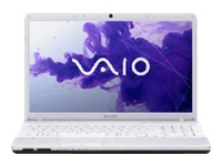 "Sony VAIO E Series VPC-EH37FX/W - Core i5 2450M / 2.5 GHz - Windows 7 Home Premium 64-bit - 6 GB RAM - 640 GB HDD - DVD-Writer - 15.5"" wide 1366 x 768 / HD - Intel HD Graphics 3000 - glacier white - keyboard: QWERTY"