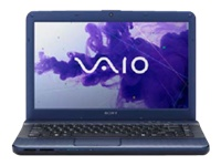 "Sony VAIO E Series VPC-EG33FX/L - Core i3 2350M / 2.3 GHz - Windows 7 Home Premium 64-bit - 4 GB RAM - 640 GB HDD - DVD-Writer - 14"" wide 1366 x 768 / HD - Intel HD Graphics 3000 - midnight blue - keyboard: QWERTY"