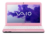"Sony VAIO E Series VPC-EG37FM/P - Core i5 2450M / 2.5 GHz - Windows 7 Home Premium 64-bit - 6 GB RAM - 640 GB HDD - DVD-Writer / Blu-ray - 14"" wide 1366 x 768 / HD - Intel HD Graphics 3000 - WiMAX - blush pink - keyboard: QWERTY"