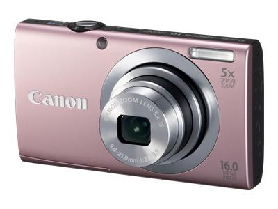 Canon PowerShot A2400 IS (Pink)