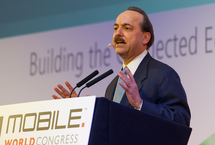 Ralph de la Vega, president and CEO of mobility at AT&T, speaking at Mobile World Congress.