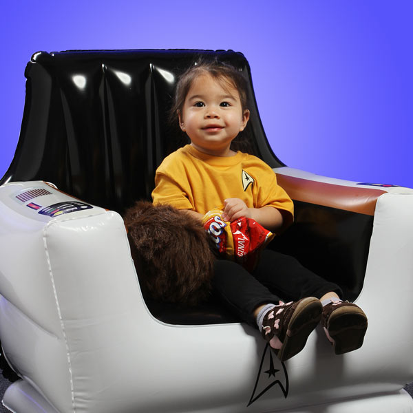 Inflatable Captain's Chair with kid