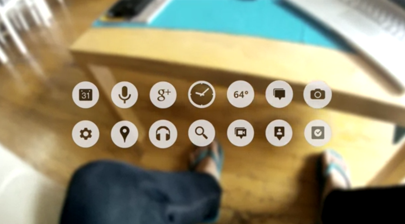Google's Project Glass icons