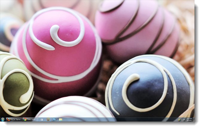 Decorated eggs theme
