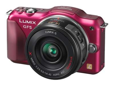 Panasonic Lumix DMC-GF5 (with 14-42mm HD lens, Red)