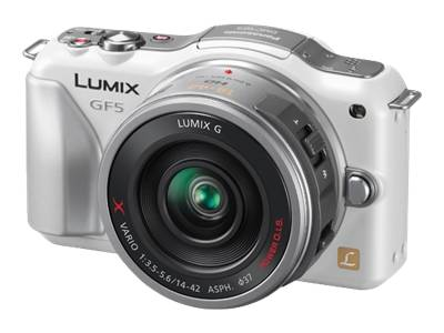 Panasonic Lumix DMC-GF5 (with 14-42mm HD lens, White)