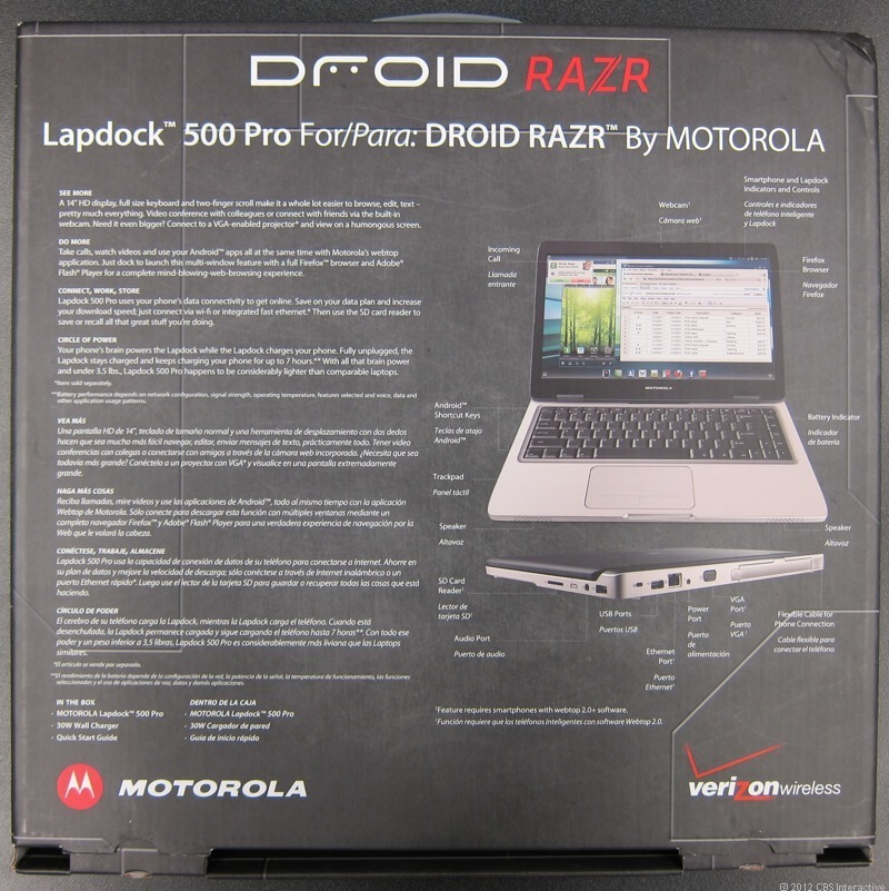 Laptop 500 Pro back of the box