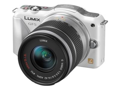 Panasonic Lumix DMC-GF5 (with 14-42mm lens, White)