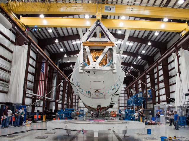Preparing Dragon and Falcon 9