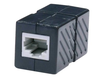 Steren network coupler - black