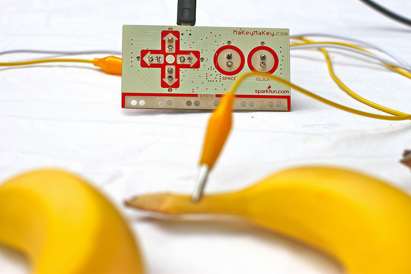 MaKey MaKey banana attachment