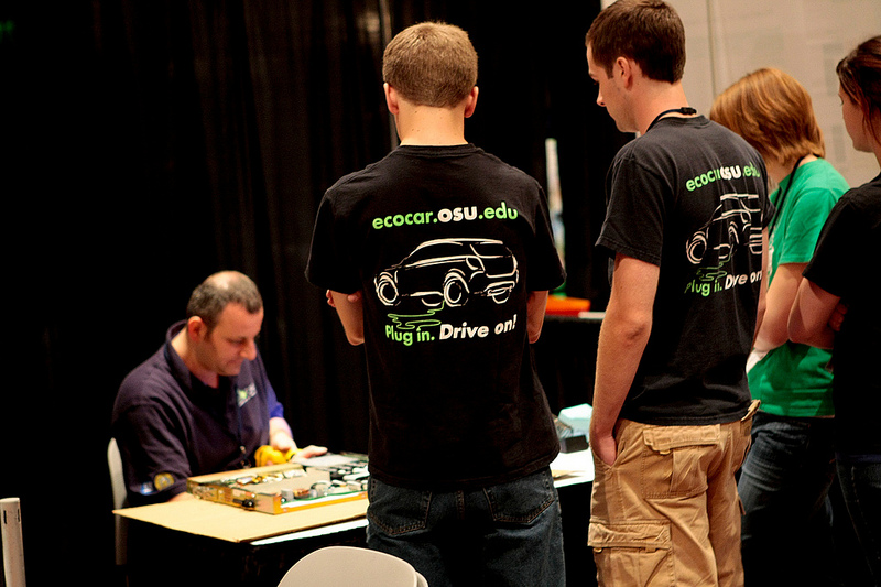 Ohio State University students participating in the EcoCar2 Design and Simulation competition.