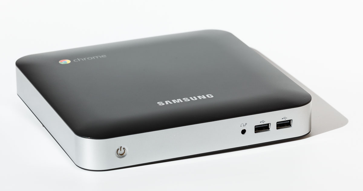 Samsung's Series 3 Chromebox is reminiscent of Apple's Mac Mini.