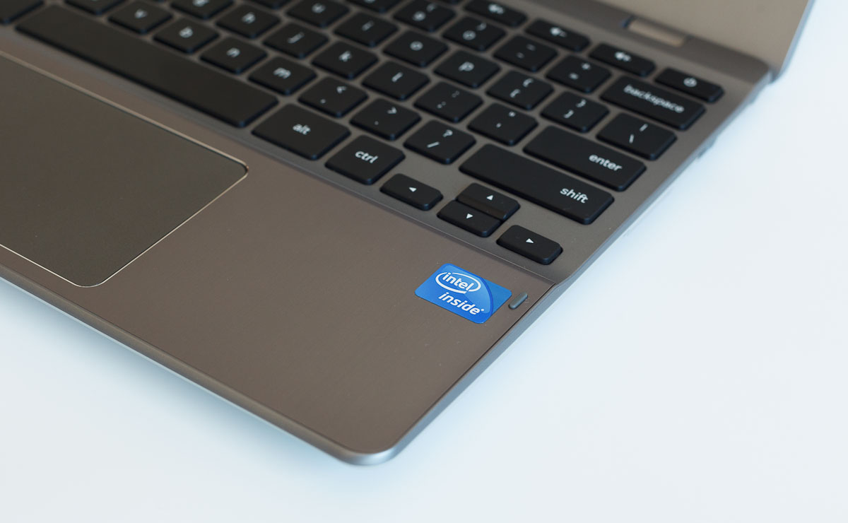 The first-generation Chromebooks used Intel Atom processors. The second-gen models get a faster Core processor -- and now an Intel Inside sticker, too. That means Intel helps subsidize marketing efforts.