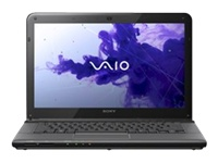 "Sony VAIO E Series SVE14117FXB - Core i5 2450M / 2.5 GHz - Windows 7 Home Premium 64-bit - 6 GB RAM - 750 GB HDD - Blu-ray - 14"" wide 1366 x 768 / HD - Intel HD Graphics 3000 - sharkskin black - keyboard: QWERTY"