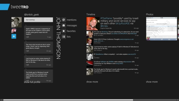 Top 10 Windows 8 Apps: Tweetro